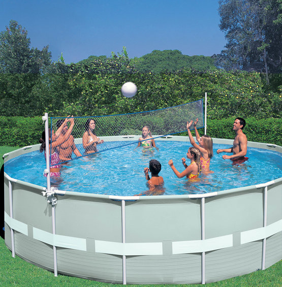 frame pool set ultra rondo sonderedition inklusive volleyballnetz 549 x 132 cm g nstig. Black Bedroom Furniture Sets. Home Design Ideas