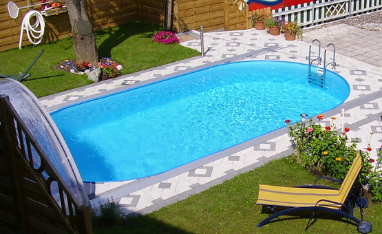Stahlwandpool styria pool only oval 120 cm tief for Stahlwandpool folie