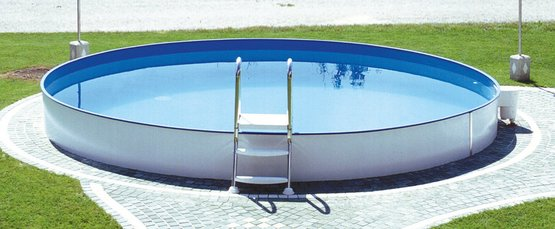 Stahlwandpool styria pool only rund 150 cm tief for Intex pool 150 cm tief