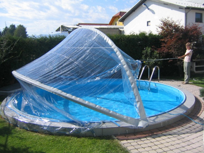 rundbecken berdachung cabrio dome pool berdachung rund poolabdeckung rundpool ebay. Black Bedroom Furniture Sets. Home Design Ideas
